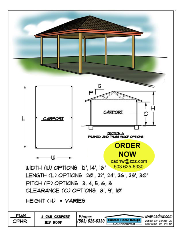 Pdf carport plans with hip roof plans free for Free cupola plans