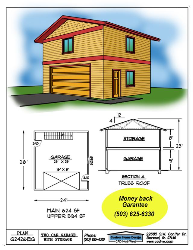 garage plan g2426bg