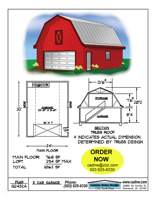 24′ x 32′ Cabin Plan | Free House Plan Reviews
