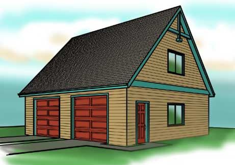Garage Plans with Loft space designs – 28X32 Garage Plans