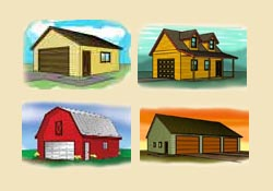 Small Pole-Barn Plans, Workshop Plans and Country Garage Plans